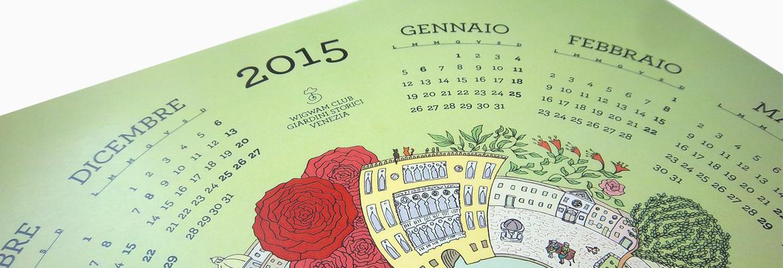 Calendario 2015: Venezia è un giardino